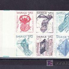 Sellos: SUECIA 1264C CARNET, EXPORTACIONES SUECAS,. Lote 24944573