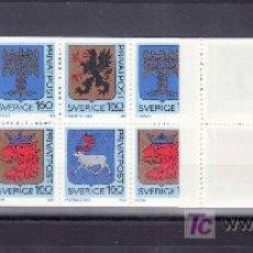 Sellos: SUECIA 1260C CARNET, ESCUDOS DE PROVINCIAS, . Lote 19373482