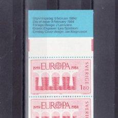 Sellos: SUECIA 1252C (10 SELLOS) CARNET, TEMA EUROPA, 25º ANIVERSARIO CONFERENCIA EUROPEA (CEPT). Lote 19326963