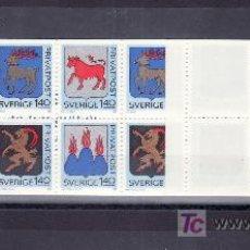 Sellos: SUECIA 1171C CARNET, ESCUDOS DE PROVINCIAS, . Lote 19326972
