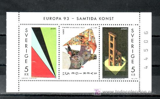 SUECIA 1756/8 SIN CHARNELA, TEMA EUROPA, ARTE CONTEMPORANEO, (Sellos - Extranjero - Europa - Suecia)