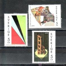 Sellos: SUECIA 1756/8 SIN CHARNELA, TEMA EUROPA, ARTE CONTEMPORANEO,. Lote 19867108