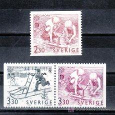 Sellos: SUECIA 1521, 1523A SIN CHARNELA, TEMA EUROPA, JUEGOS INFANTILES,. Lote 19890679