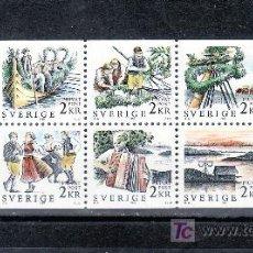 Sellos: SUECIA 1464/73 SIN CHARNELA, FLORES, BARCO, DANZA, MUSICA,. Lote 19309269