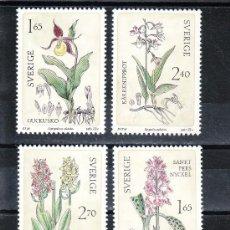 Sellos: SUECIA 1187/90 SIN CHARNELA, FLORES, ORQUIDEAS SILVESTRES,. Lote 19890685