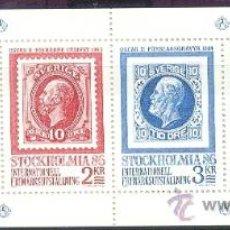 Sellos: SUECIA 1983 - EXPOSICION FILATELICA STOCKHOLMIA 83 - YVERT 1221/24 CARNET. Lote 15298168