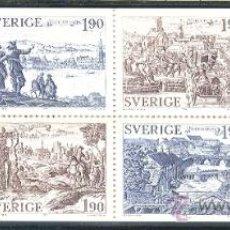 Sellos: SUECIA 1984 - CIUDADES DE SUECIA - YVERT 1274/79 CARNET. Lote 23655467