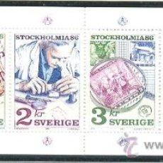 Sellos: SUECIA 1986 - EXPOSICION FILATELICA STOCKHOLMIA-86 - YVERT 1357/60. Lote 23886689