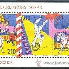 Briefmarken - SUECIA 1987 - EL CIRCO EN SUECIA - Yvert BLOCK 15 - 23655471