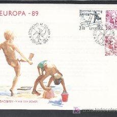 Sellos: SUECIA 1521, 1523A PRIMER DIA, TEMA EUROPA, JUEGOS INFANTILES, . Lote 25891945