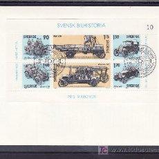 Briefmarken - suecia hb 8 primer dia, historia del automovil sueco - 18142093