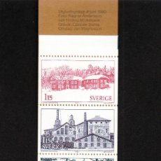 Sellos: SUECIA 1090C CARNET SIN CHARNELA, TURISMO, PROVINCIA DE HALSINGLAND. Lote 18159799
