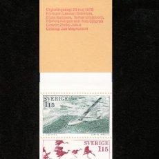 Sellos: SUECIA 1011C CARNET SIN CHARNELA, TURISMO, AVION, AVES, PROVINCIA DE VASTERGOTLAND. Lote 18176148