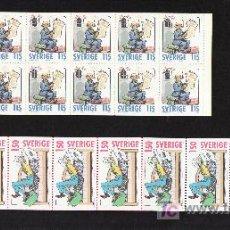 Sellos: SUECIA 1107C, 1109C CARNET SIN CHARNELA, COMICS, NAVIDAD, BANDA DIBUJOS SUECO PERSONAJES DIVERSOS. Lote 24028788
