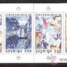 Sellos: SLANIA /SUECIA***.1985.STOCKHOLMIA 86.AUTOGRAFO LARS SJOOBLOM GRABA 2 SELLOS,SLANIA LOS OTROS 2.. Lote 26758509