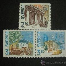 Sellos: SUECIA 1990 IVERT 1571/3 *** EUROPA - EDIFICIOS POSTALES - MONUMENOS . Lote 25814604