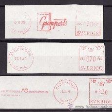 Sellos: FRANQUEO MECANICO LOTE DE TRES FRAGMENTOS 1965-1975 PRENSA EDITORIALES. Lote 26733256