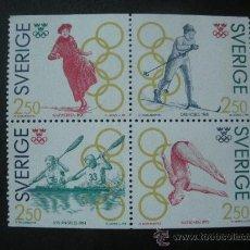 Sellos: SUECIA 1991 IVERT 1662/5 *** CAMPEONES OLÍMPICOS SUECOS - DEPORTES. Lote 27156576