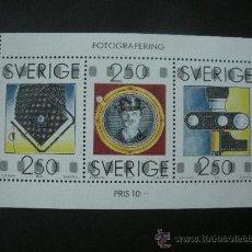 Sellos: SUECIA 1990 HB IVERT 18 *** DÍA DEL SELLO - 150 ANIVERSARIO DE LA FOTOGRAFIA . Lote 27156645