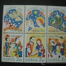 Sellos: SUECIA 1988 IVERT 1496/501 *** NAVIDAD - EVANGELIO DE NAVIDAD SEGÚN SAN LUCAS. Lote 27156686