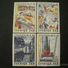 Sellos: SUECIA 1985 IVERT 1316/9 *** EXPOSICIÓN FILATÉLICA INTERNACIONAL - STCKHOLMIA-86 (III). Lote 27627086
