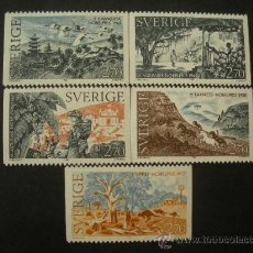Sellos: SUECIA 1985 IVERT 1346/50 *** PREMIOS NOBEL DE LITERATURA. Lote 27627541