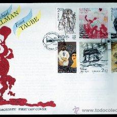 Sellos: SUECIA AÑO 1990 YV 1601/06 SPD ANVº NACTO POETAS CARL M. BEUMAN Y EVERT TAUBE - PINTURA - CZ SLANIA. Lote 28853580