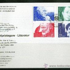 Sellos: SUECIA AÑO 1990 YV 1621/24 SPD PREMIOS NOBEL DE LITERATURA - PERSONAJES. Lote 28859065