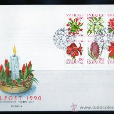 Sellos: SUECIA AÑO 1990 YV 1625/30 SPD NAVIDAD - FLORA - FLORES - NATURALEZA. Lote 28859095