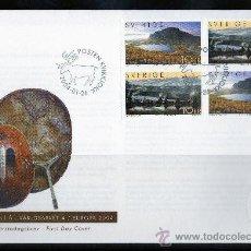 Sellos: SUECIA AÑO 2004 SPD EUROPA - VISTAS Y PAISAJES DE LAPONIA - TURISMO - NATURALEZA. Lote 28859156