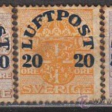 Sellos: SUECIA IVERT AEREO Nº 1/3 (AÑO 1920), SOBRECARGADOS CORREO AEREO, NUEVO (SERIE COMPLETA). Lote 29504521