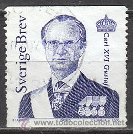 SUECIA IVERT 2163, EL REY CARLOS GUSTAVO XVI, USADO (Sellos - Extranjero - Europa - Suecia)