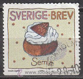 SUECIA IVERT 2051, PASTELERIA, USADO (Sellos - Extranjero - Europa - Suecia)
