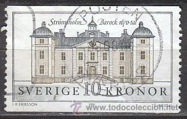 SUECIA IVERT 1666, CASTILLO DE STROMSHOLM, USADO (Sellos - Extranjero - Europa - Suecia)