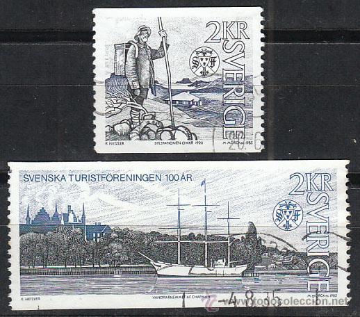 SUECIA IVERT 1320/1, CENTENARIO DE LA FEDERACIÓN SUECA DE TURISMO, USADO (SERIE COMPLETA) (Sellos - Extranjero - Europa - Suecia)