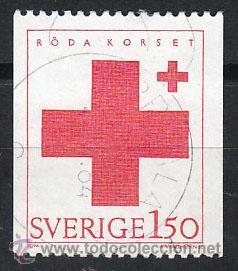 SUECIA IVERT 1233, CRUZ ROJA, USADO (Sellos - Extranjero - Europa - Suecia)