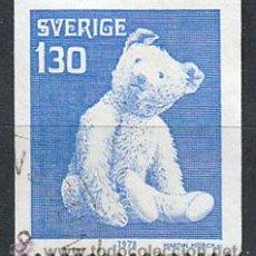 Sellos: SUECIA IVERT 1030, JUGUETES: OSO DE PELUCHE DE TEDDY (1902), USADO. Lote 30291541