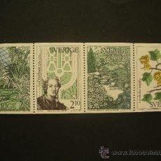 Sellos: SUECIA 1987 IVERT 1432/5 *** JARDINES BOTÁNICOS EN SUECIA - FLORA. Lote 32147316