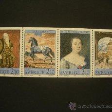 Sellos: SUECIA 1987 IVERT 1428/31 *** 450º ANIVERSARIO CASTILLO DE GRIPSHOLM - TESOSROS DEL CASTILLO . Lote 32147472