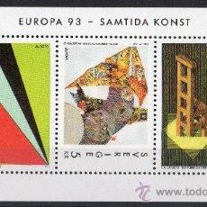 Sellos: SUECIA AÑO 1993 YV HB 23*** EUROPA - ARTE CONTEMPORÁNEO. Lote 35483479