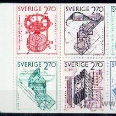 Sellos: SUECIA AÑO 1984 YV C 1264*** CARNET - EXPORTACIONES TECNOLÓGICAS SUECAS - CIENCIA Y TÉCNICA. Lote 35603923