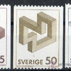 Sellos: SUECIA AÑO 1982 YV 1164/66*** FIGURAS GEOMÉTRICAS IMPOSIBLES - CZ SLANIA. Lote 149041614