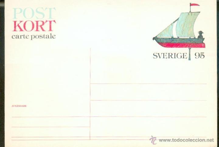 ENTERO POSTAL CON MOTIVO NAÚTICO (Sellos - Extranjero - Europa - Suecia)