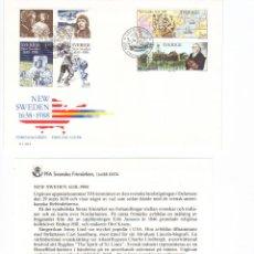 Sellos: SUECIA SOBRE PRIMER DIA 1988 EMISION CONJUNTA EEUU SPD COMPLETO. Lote 43752443