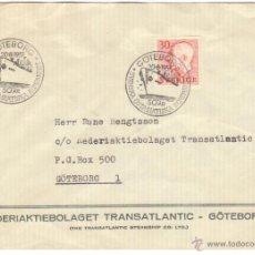 Sellos: SUECIA LOTE 2 SOBRES MATASELLADOS BARCOS 1968 1957 NAVIERAS. Lote 43812956