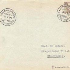 Sellos: SUECIA SOBRE DESPACHADO ABORDO 1955 VER DETALLE COMPLETO. Lote 43813384