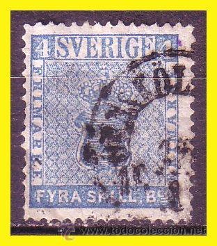 SUECIA 1855 IVERT Nº 2 (O) (Sellos - Extranjero - Europa - Suecia)