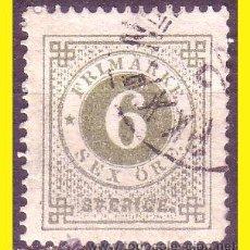 Sellos: SUECIA 1872 IVERT Nº 19A TIPO B (O). Lote 44656081