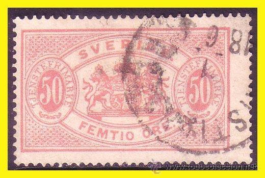 SUECIA SERVICIO 1874 IVERT Nº 10 TIPO B (O) (Sellos - Extranjero - Europa - Suecia)
