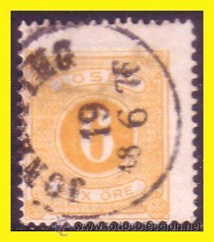 SUECIA TASA 1874 IVERT Nº 4 TIPO B (O) (Sellos - Extranjero - Europa - Suecia)